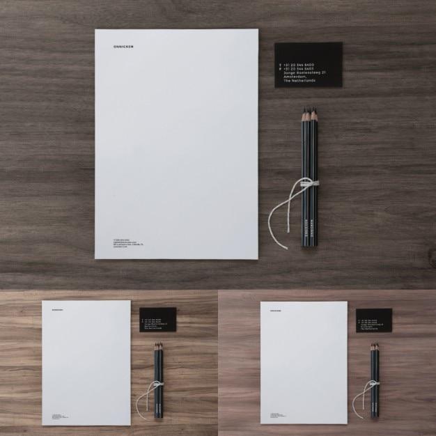 Elementi di disegno di presentazione Psd Gratuite