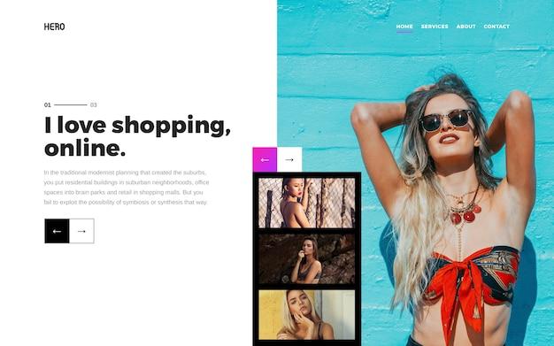 Eroe intestazione moda e bellezza Psd Premium