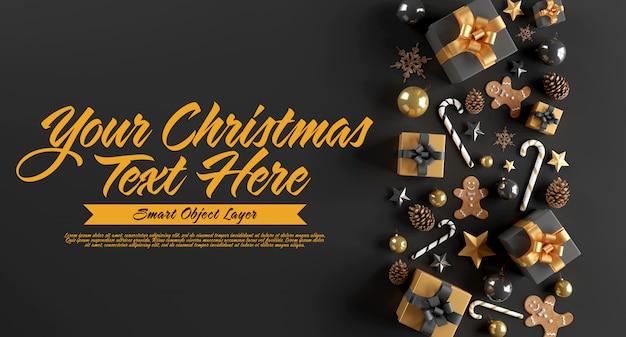 Estandarte de una escena navideña PSD Premium
