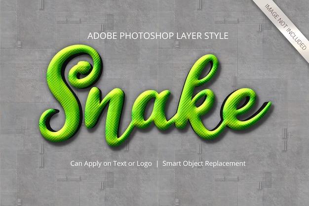 Estilo de capa de efecto de texto de photoshop PSD Premium