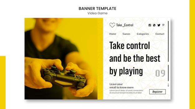 Estilo de plantilla de banner de videojuego PSD gratuito