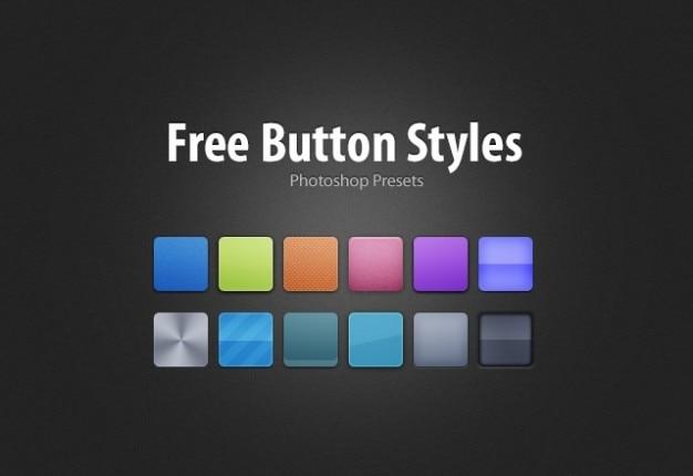 estilos libres botón Psd Gratis