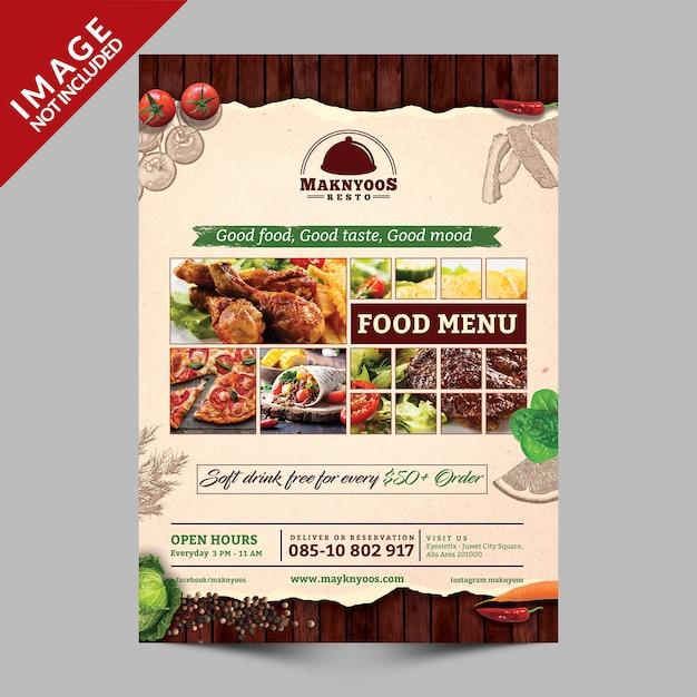 Eten menu boek voorzijde Premium Psd