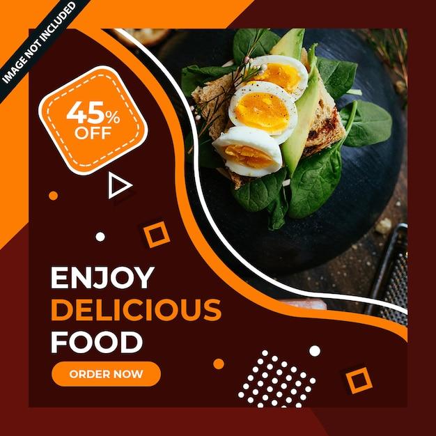 Eten restaurant social media post psd Premium Psd