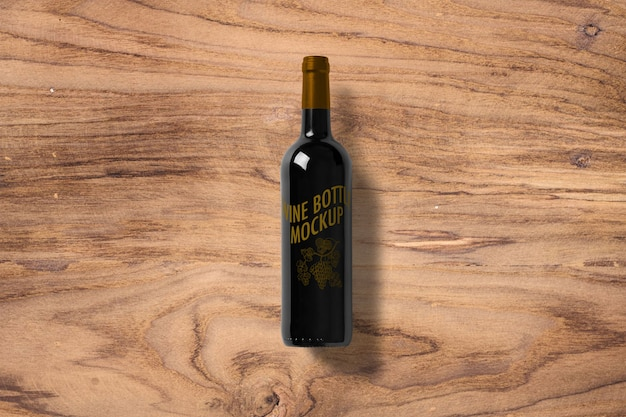 Etichetta della bottiglia di vino mockup Psd Premium