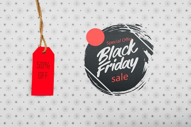 Etiqueta de precio del concepto de viernes negro PSD Premium
