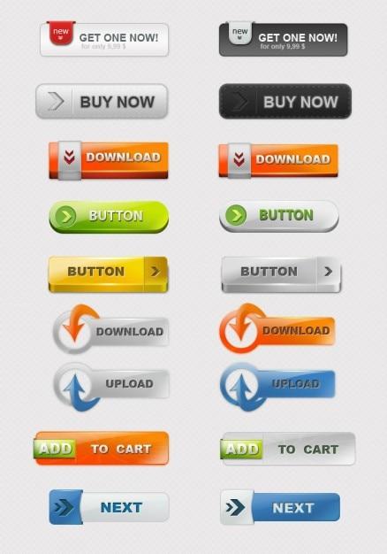 Etiquetas comerciales web coloridos psd PSD gratuito