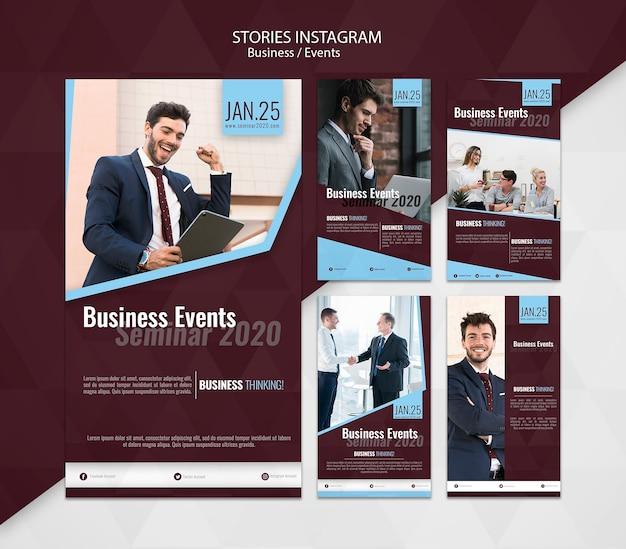 Eventos de negocios historias de instagram PSD gratuito