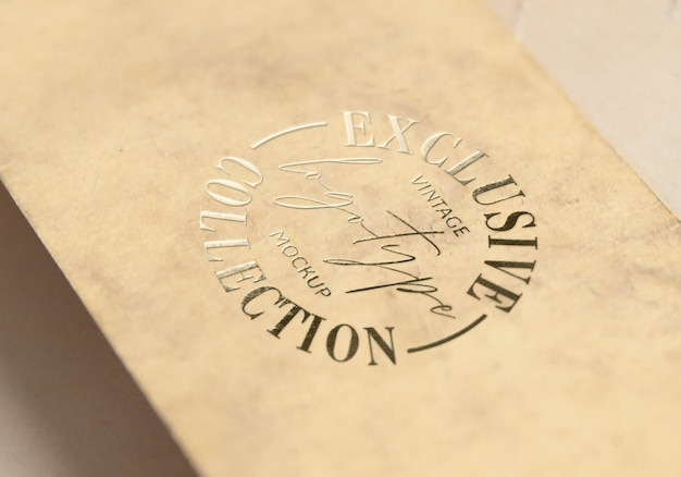 Exclusieve vintage logotype mockup-collectie Premium Psd