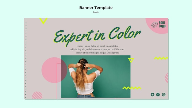 Expert in kleur banner websjabloon Gratis Psd