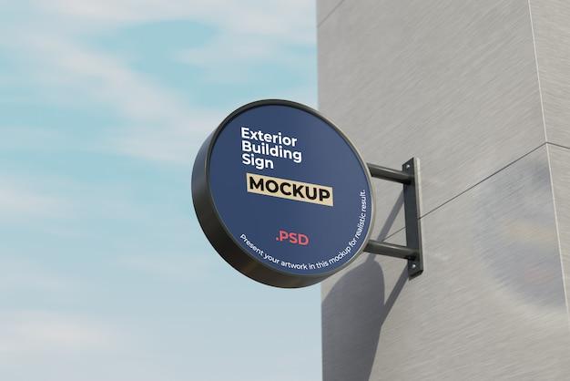 Exterieur gebouw teken mockup Premium Psd
