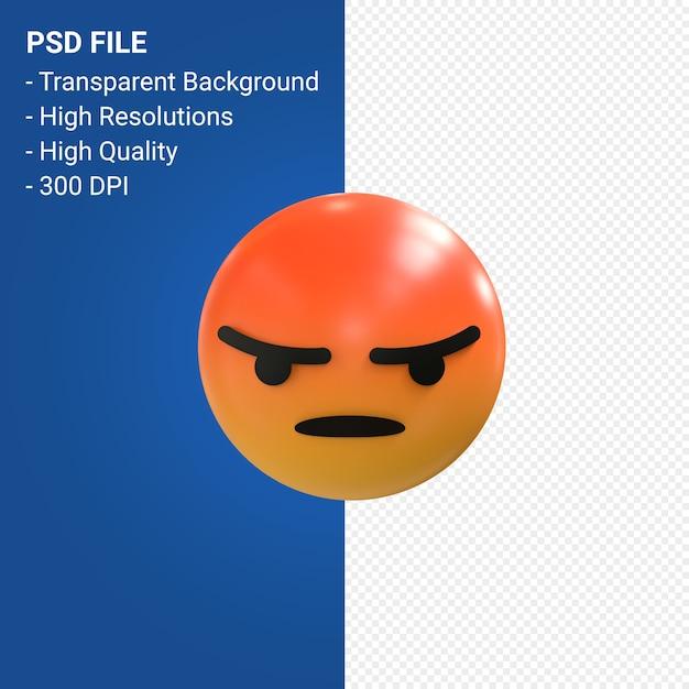 Facebook 3d emoji-reacties zoals geïsoleerd Premium Psd