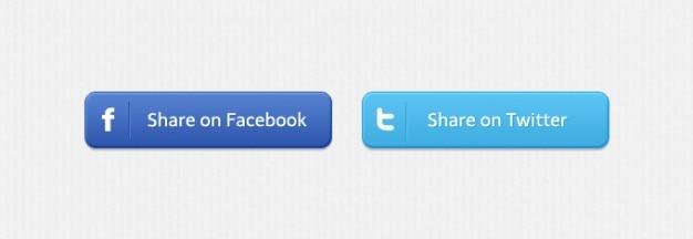 Facebook aandeel sociale knoppen twitter Gratis Psd