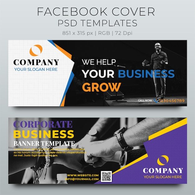 Facebook cover web banner modello di progettazione di social media Psd Premium