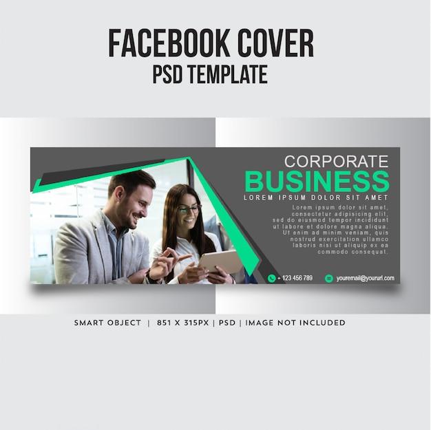 Facebook-dekking voor bedrijven Premium Psd