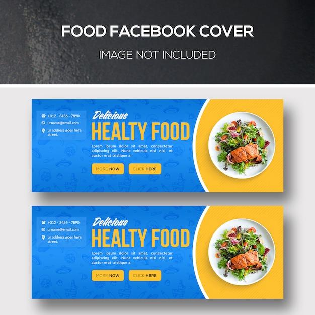 Facebook-dekking voor eten Premium Psd