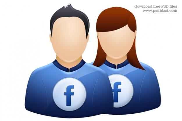 Facebook icon twitter user avatar grafico deviantart profilo icona psd Psd Gratuite