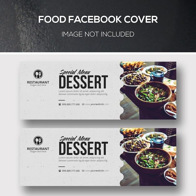Facebook-omslag voor eten Premium Psd