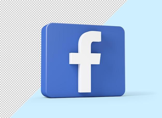 Facebook-pictogram geïsoleerd in 3d-rendering Premium Psd