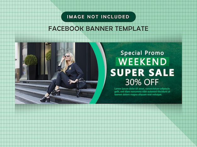 Facebook sale timeline cover PSD Premium