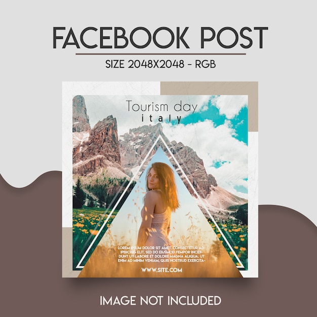 Facebook-sjabloon sociale media Premium Psd