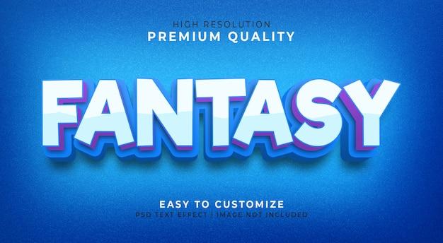 Fantasie 3d-teksteffect mockup Premium Psd