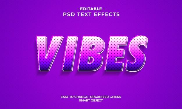 Fantastico effetto di testo vibes colorato Psd Premium
