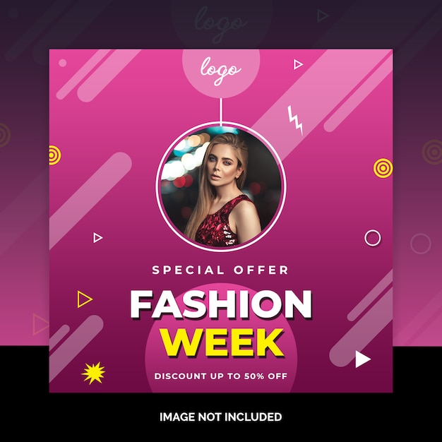 Fashion design post social media Psd Premium
