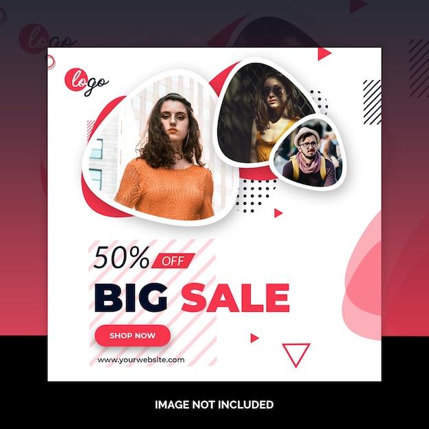 Fashion design post social media Psd Premium