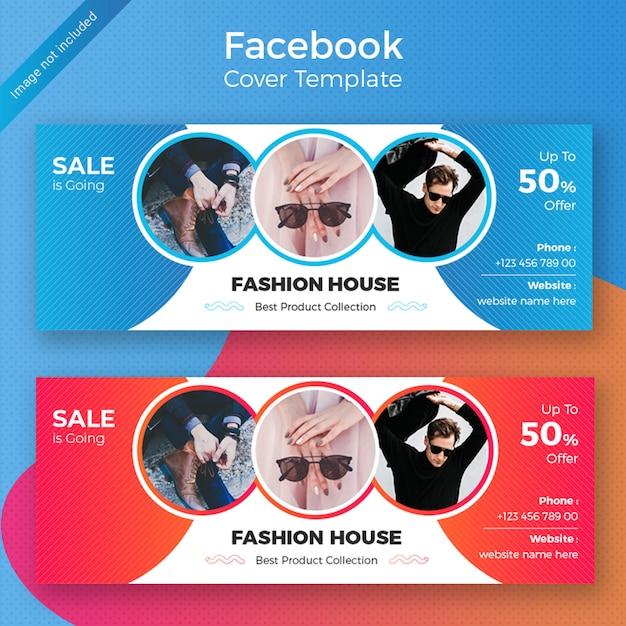 Fashion facebook cover template design PSD Premium