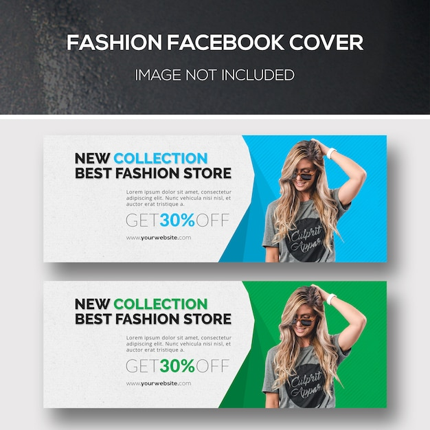 Fashion facebook cover Psd Premium