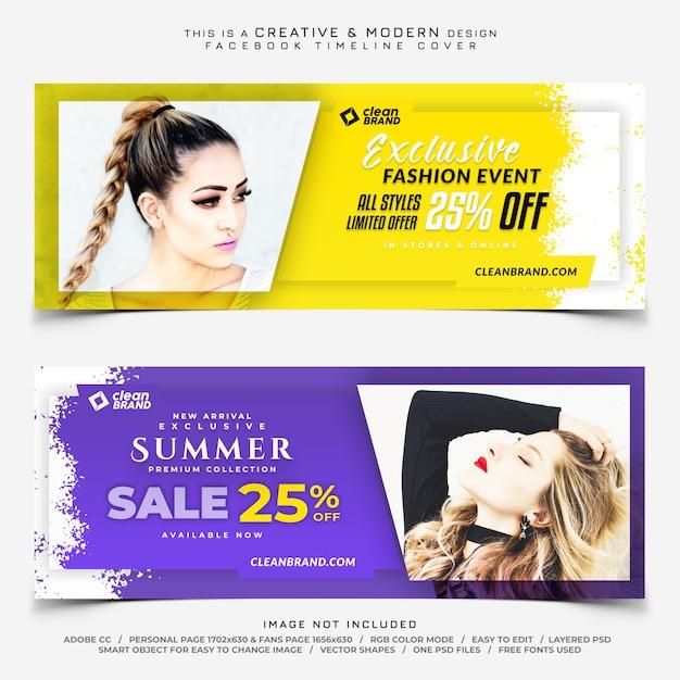 Fashion facebook tijdlijn dekking banner Premium Psd