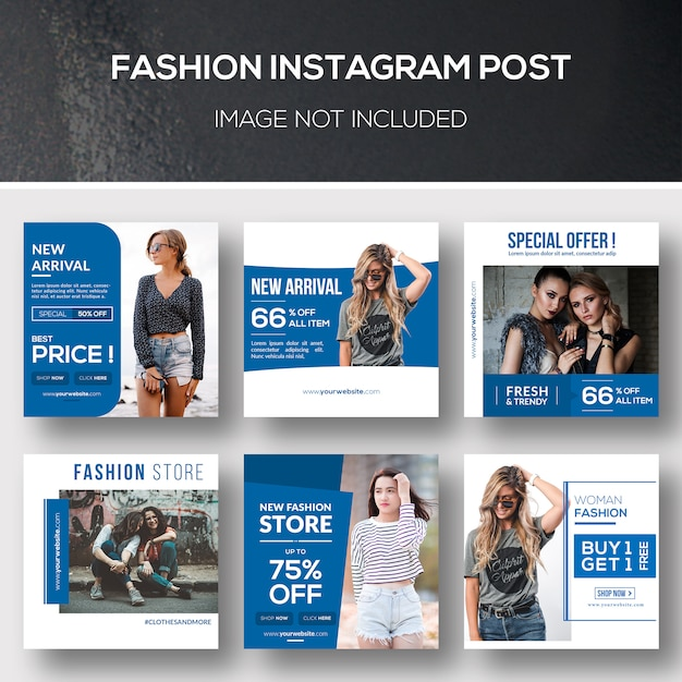 Fashion instagram post PSD Premium