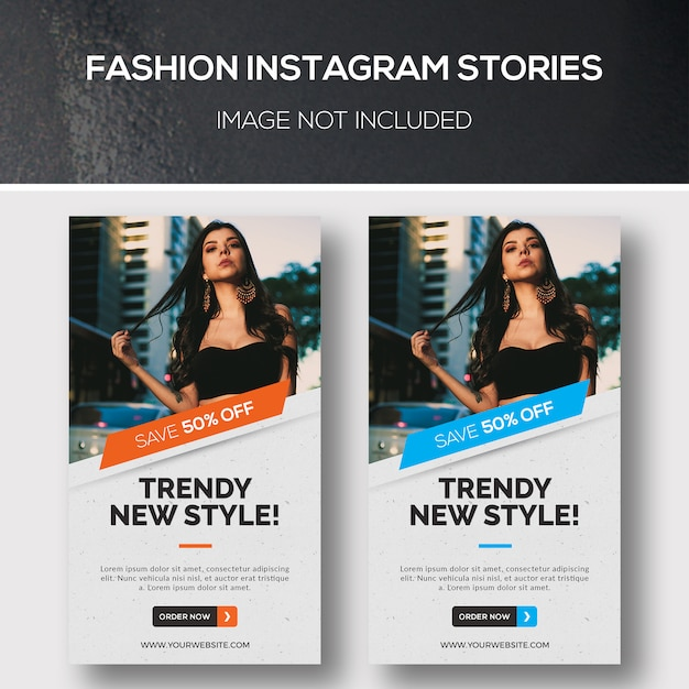 Fashion instagram stories PSD Premium