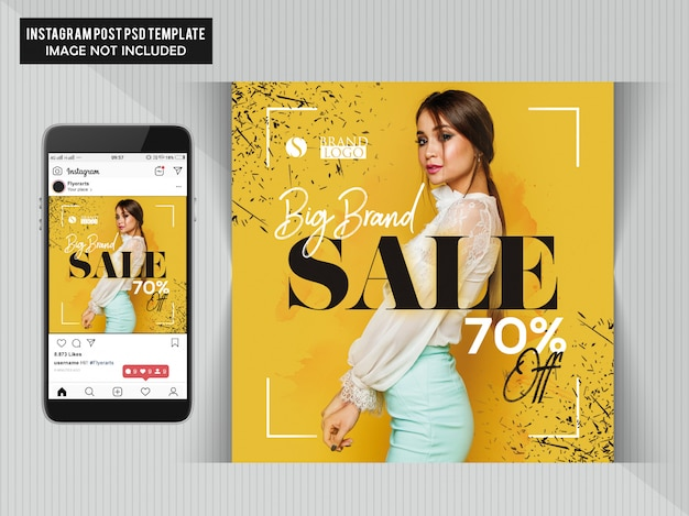 Fashion webbanner voor sociale media Premium Psd