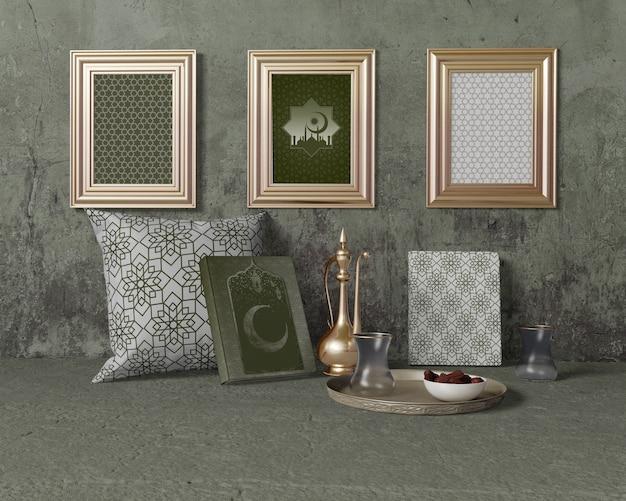 Feestelijk ramadan arrangement mock-up Gratis Psd