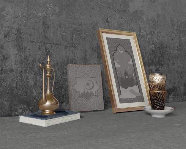 Feestelijke ramadan samenstelling op cement Gratis Psd
