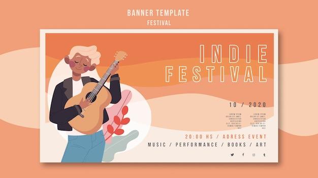 Festival advertentie sjabloon voor spandoek Gratis Psd