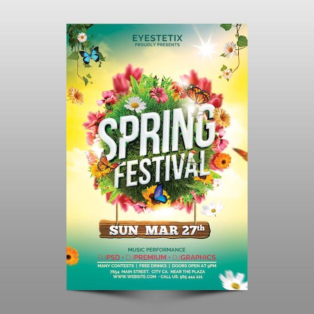 Festival de primavera PSD Premium