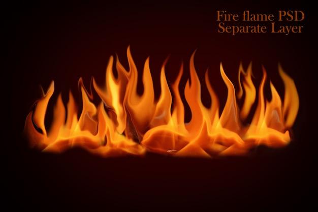Fiamme di fuoco isolate Psd Premium