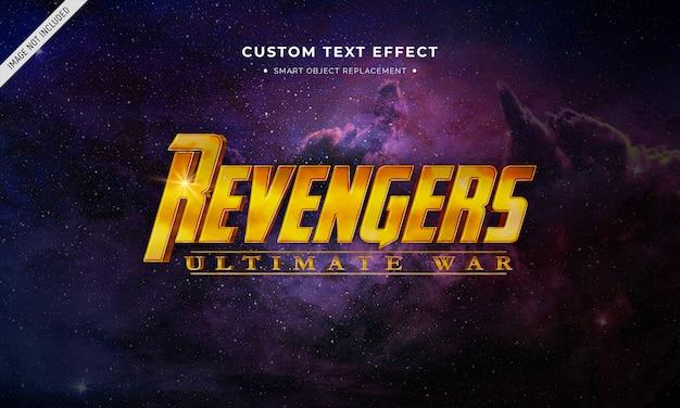 Film in stile supereroe effetto testo 3d Psd Premium