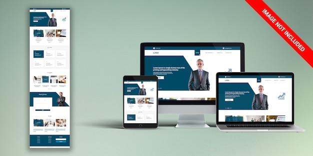 Financieel webontwerp Premium Psd