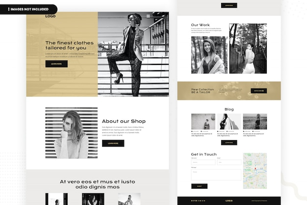 Finest cloths tailor website paginasjabloon Premium Psd