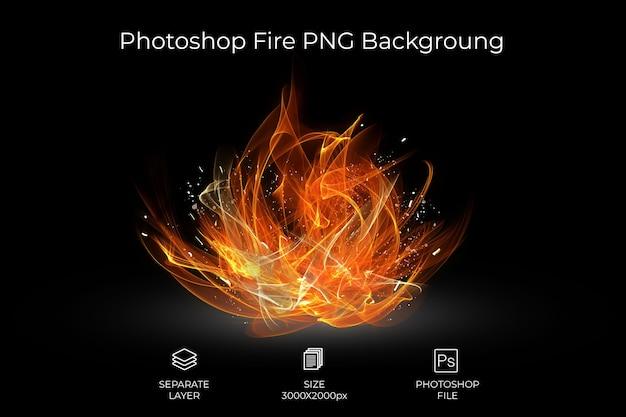 Fire backgroung Psd Premium
