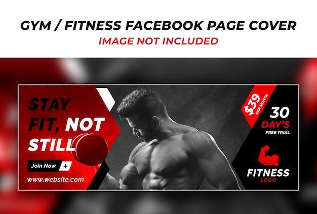 Fitness facebook cover ontwerpsjabloon Premium Psd