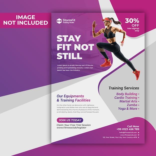 Fitness flyer Premium Psd
