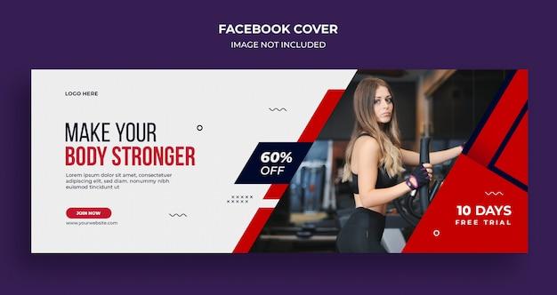 Fitness gym sociale media banner, sjabloon voor spandoek instagram Premium Psd
