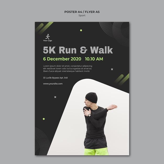 Fitness training advertentie sjabloon poster Gratis Psd