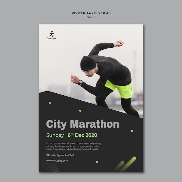 Fitness training sjabloon folder Gratis Psd