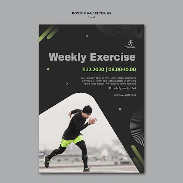 Fitness training sjabloon poster Gratis Psd